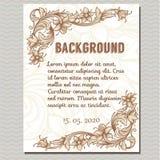 Vector vintage border frame Stock Images