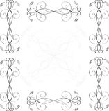 Vector vintage border  frame engraving  with retro Royalty Free Stock Photos