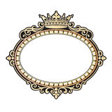 Vector vintage border frame engraving with retro ornament Vector illustration Royalty Free Stock Images
