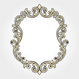 Vector vintage border frame engraving with retro ornament Vector Royalty Free Stock Photo