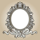 Vector vintage border frame engraving with retro ornament Vector Royalty Free Stock Images