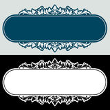 Vector vintage border frame engraving with retro ornament Vector Royalty Free Stock Image