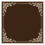 Vector vintage border frame engraving with retro ornament Vector Royalty Free Stock Photos