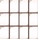 Vector vintage border frame set Royalty Free Stock Photo