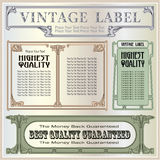 Vector vintage border style labels on different versions Royalty Free Stock Photography
