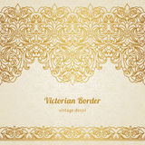 Vector vintage border in Victorian style. Stock Photos