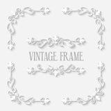 Vector Vintage Border White Frame Stock Image