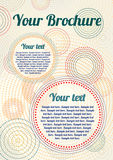 Vector vintage brochure with dotted circles Royalty Free Stock Images