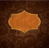 Vector vintage brown background Royalty Free Stock Images