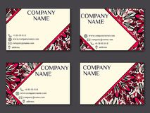 Vector vintage business card set. Beauty designs. Front page and. Vector vintage business card set. Beauty designs. Floral mandala pattern and ornaments. Front Royalty Free Stock Photos