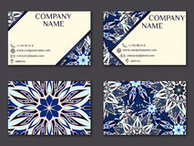 Vector vintage business card set. Beauty designs. Front page and Royalty Free Stock Image