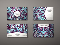 Vector vintage business card set. Royalty Free Stock Photos