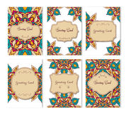 Vector vintage business cards big set. Royalty Free Stock Photography