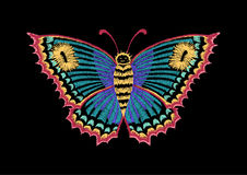 Vector vintage butterfly, decorative element for embroidery, patches and stickers Stock Photo