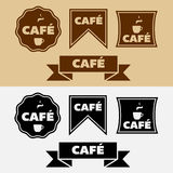 Vector Vintage Cafe Badges Stock Photography