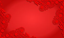 Vector vintage Calligraphy blank red background Royalty Free Stock Photo