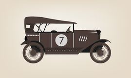 Vector vintage car Royalty Free Stock Photography