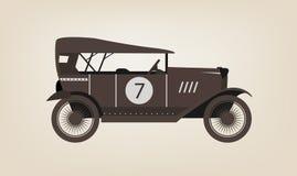 Vector vintage car. Vector vintage sport racing car Royalty Free Stock Photography