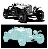 Vector vintage car Royalty Free Stock Photos