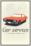 Vintage car service Royalty Free Stock Images