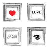 Vector vintage card with decorative frames Stock Photography