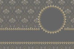 Vector Vintage card design, gold pattern Royalty Free Stock Image