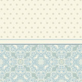 Vector vintage card with floral ornament design. Damask  Luxury Royalty Free Stock Images