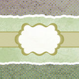 Vector vintage card with polka dots. EPS 8 Stock Images