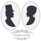 vector just married silhouette in vintage frame stock vector image 46187206