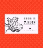 Vector vintage card with tulip flower Stock Photos