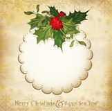 Vector vintage christmas background Royalty Free Stock Photo
