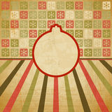 Vector vintage Christmas background in retro style Royalty Free Stock Photo