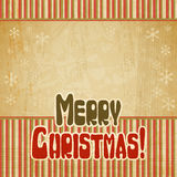 Vector vintage Christmas background in retro style Stock Photo