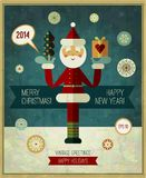 Vector vintage Christmas design. Christmas retro Stock Images