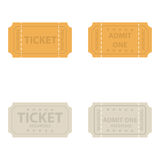 Vector  vintage cinema tickets. Stock Photography