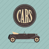 Vector vintage classic car Royalty Free Stock Photography