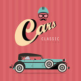Vector vintage classic car Royalty Free Stock Image