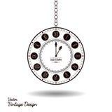 Vector vintage clock dial royalty free illustration