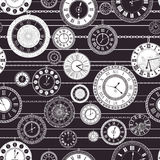 Vector vintage clock dial seamless pattern Stock Photos