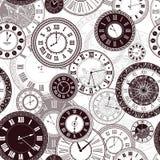 Vector vintage clock dials set stock illustration
