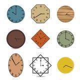 Vector vintage clock illustration Stock Photos