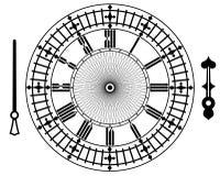 Vector vintage clock stock illustration