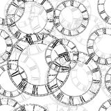 Vector vintage clock Royalty Free Stock Images
