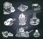 Vector vintage coffee set. Stock Images