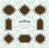 Vector vintage collection: Baroque and antique frames, ornamental design elements. Stock Photos