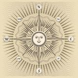 Vector vintage compass rose Royalty Free Stock Images