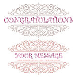 Vector vintage Congratulations card Stock Photos