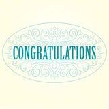 Vector vintage Congratulations card Royalty Free Stock Image
