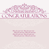 Vector vintage Congratulations card Stock Photography