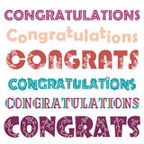Vector vintage Congratulations card Stock Image